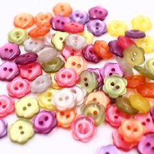Lot 100 18L 11.3mm Faux Shell Flower Button Assorted Color Crafts DIY Scrapbook