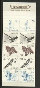 SWEDEN SG568-572 FAUNA SKETCHES (BOOKLET ) 1968  MNH