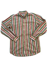 Lacoste Button Down Long Sleeve Shirt Men Size 38 Multi Color Stripe