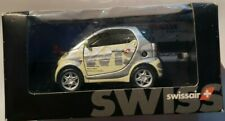 Maisto Swissair Smart Car Silver White 1:33 New Box May Tat Toy Airline Die Cast