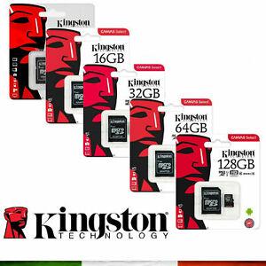 ✅  MICRO SD 16 32 64 128 GB scheda di memoria Kingston Classe 10 microSD 100MB/S