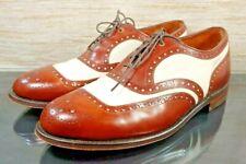 JOHNSTON MURPHY ARISTOCRAFT Vintage Mens 8.5 D/B Brown White Leather Oxford Shoe
