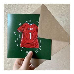 Fathers Day Card Liverpool Football Themed Design Original Artwork