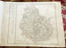 Dépt 21 - Carte Originale de 1790 - Gravure sur Cuivre Aquarellée 73 x 56 cm