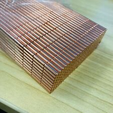 20X Cylinder 4mm X 10mm COPPER | Rare Earth Magnet Neodymium Disc Disk Craft Art