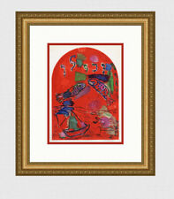 """1962 MARC CHAGALL Color Lithograph Religious """"The Tribe of Zebulun"""" FRAMED COA"""