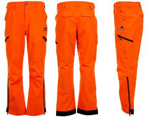 Men's Mossy Oak Blaze Orange Scent Control Waterproof Pants Size 2XL 44-46 New