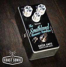 Greer Amps Southland Harmonic Overdrive  **Custom Color Black/Daphne Blue**