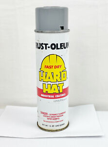 VINTAGE 1987 RUST-OLEUM FAST DRY HARD HAT SPRAY CAN - FULL - COLLECTORS ITEM