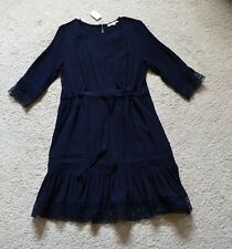Maje Ronsard Lace-Trimmed Dress Size 1 US XS
