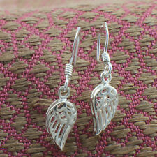 925 Sterling Silver Filigree Angel Wings Dangling Earrings