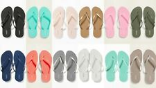 NEW Old Navy Classic Flip Flops Women Black Blue Silver Olive Pink 6 7 8 9 10 11