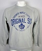 Toronto Maple Leafs NHL CCM Men's Gray Distress Pullover Sweatshirt