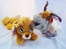 NEW DISNEY STORE BEANIE OLIVER AND COMPANY ALONG WITH DODGER HTF WITH TAGS