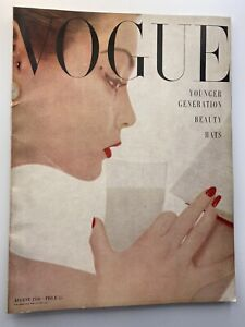 VOGUE Magazine 1950 August COMPLIMENTARY GIFT WRAP Fast dispatch