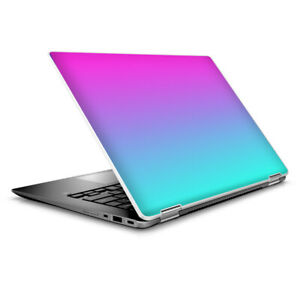 """Skin Wrap for 14"""" HP Chromebook x360, hombre pink purple teal gradient"""