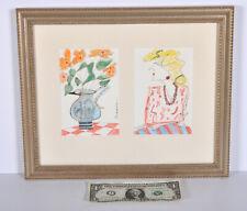 Original Painting Denver Artist Patricia Patti Cramer Woman Flower Vase Diptych
