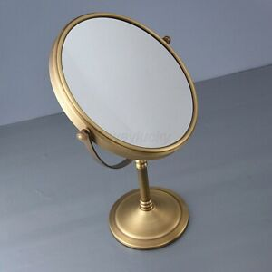 Antique Brass Round Double Side 8-inch Makeup Mirrors Desktop Magnifying Mirror