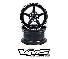 x2 VMS RACING 5-SPOKE 13X9 BLACK IMPORT DRAG RIMS WHEELS 4X100/4X114 ET0 PAIR