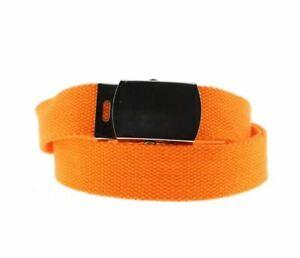 Unisex Neon Orange Novelty Fancy Dress Canvas Belt Adjustable One Size New