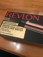 Revlon Pro Collection Rose Gold Curling iron Salon Curls & Waves new in box