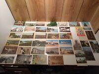Antique/vintage U.S. postcards lot of 60 most unused Wash, Ca, Hawaii,New York