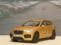 PERSONALISED JAGUAR F-PACE GOLD 1.38 DIECAST MODEL CAR NEW BOYS TOYS CHRISTMAS