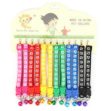 12PCS/Lot Dog Collars Pet Cat Puppy Buckle Nylon Collar with Bell 6 Colors