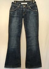 Hudson Women Size 25 Skinny Slim  Bootcut Blue Distressed Jeans