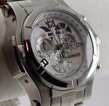 Renato Men's T-Rex Gen II Watch, Swiss Quartz Chrono, 316L SS, White Dial - Rare