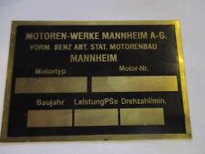 Typenschild Schild Oldtimer Traktor MWM Hela Fendt Deuliwag Messing 54x75 mm S23