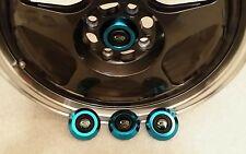 Rota Wheels Center Caps Frankie .. Set of 4 NEW Polished Blue Chrome Finish
