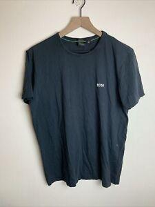 Hugo Boss Black Cotton Crewneck T-Shirt - Large