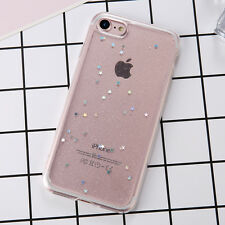 Luxury Bling Glitter Slim Soft TPU Silicone Case Cover for iPhone 6 6s 7 8plus X for iPhone 5 5s Black
