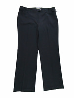 Calvin Klein Women Pants, NEW Modern Fit Wide Leg Stretch Black Career, Size 14