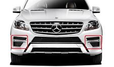 New Genuine Mercedes Benz ML Class W166 AMG Set Of Front Bumper Lower Grills OEM