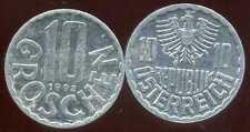 AUTRICHE 10 groschen 1992  ( bis )
