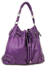 Purple Drawstring Inspired Designer Soft Handbag Purse WB New!