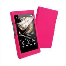 Tuff Luv Sony NW-A35/A36/A37/A45 Silicone Étui & Écran Protection - Rose