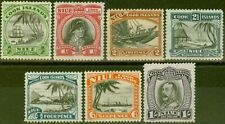 Niue 1932 set of 7 SG55-61 Fine Mtd Mint
