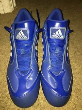 Cleats - Mens Metal Baseball Size 13, Blue With White Stripes. Very Nice