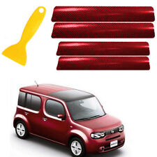 Red 4D Carbon Fiber Decals Vinyl Car Door Pedal Threshold Anti Scratch Stickersr