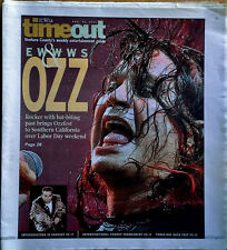 OZZY OSBOURNE - STAR NEWSPAPER / TIMEOUT SUPPLEMENT - COVER STORY - 8/29/02