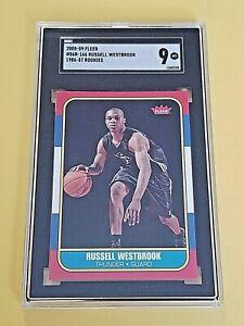 2008-09 Fleer RUSSELL WESTBROOK ROOKIE CARD RC 1986 Retro #86R-166 HOF MVP SGC 9