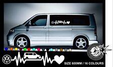 VW HEARTBEAT T5 W VAN CAMPER Car/Window/Van VW VAG  Vinyl Decal Sticker 1