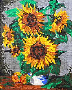 Mini Stecksystem Sonnenblumen ca. 8,600 Teile mit XXl-Steckvorlage Nr. 41120