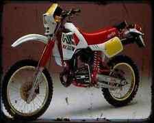 Aprilia Rx250 85 A4 métal signe Moto Vintage Aged