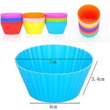 12 Pcs Mini Cupcake Holders Bakerpan Silicone  Mold Muffin Baking Cup Cake Tool
