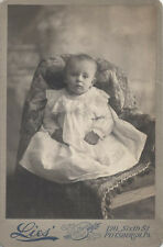 VERY SHARP CABINET CARD PORTRAIT OF ADORABLE BABY - PITTSBURGH, PA