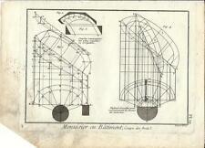 Stampa antica LAVORAZIONE LEGNO Pl19 Enciclopedia Diderot 1790 Old antique print